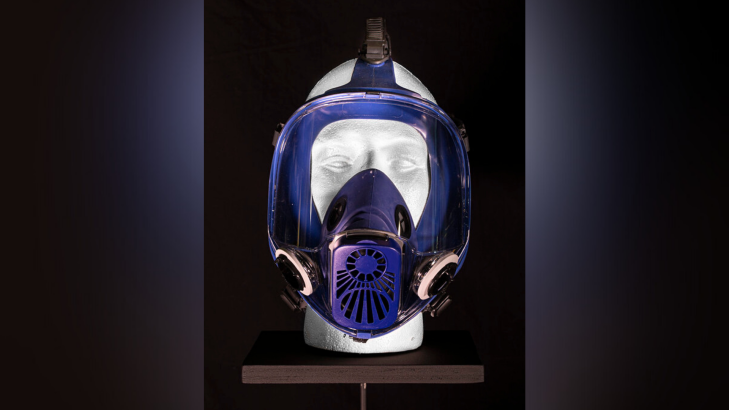 "Gas mask from ""Breaking Bad."" (Photo Source: The Mob Museum)"