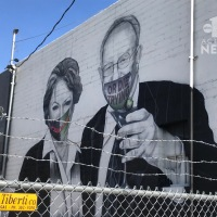 'Vandalism is vandalism,' Las Vegas artist not a fan of masks on his Goodman mural